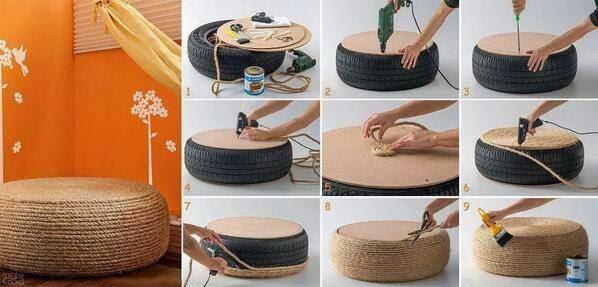 Un pneu en Pouf !