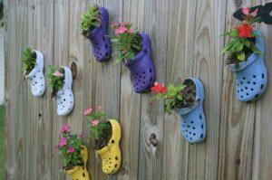 Chaussures et fleurs