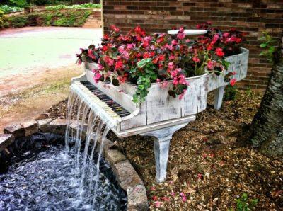 Une fontaine à partir d'un piano