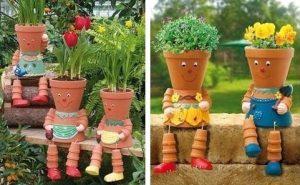 Décorations avec des pots